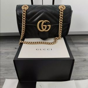 Black Gucci Marmont Bag